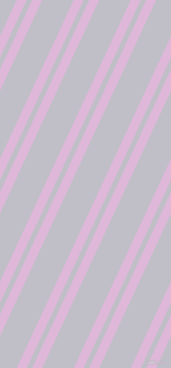 65 degree angles dual stripe lines, 18 pixel lines width, 10 and 57 pixels line spacing, French Lilac and Ghost dual two line striped seamless tileable