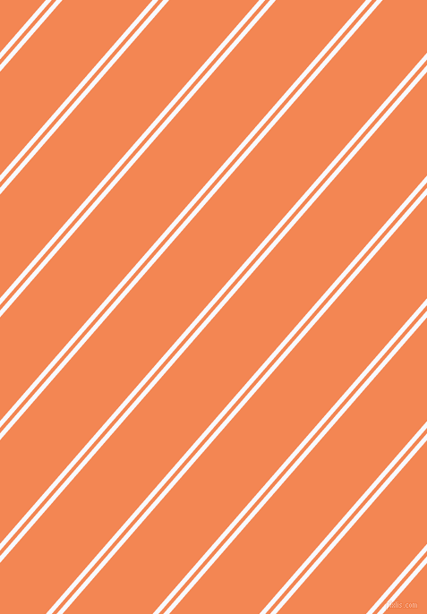 49 degree angle dual stripes lines, 5 pixel lines width, 4 and 76 pixel line spacing, Ghost White and Crusta dual two line striped seamless tileable