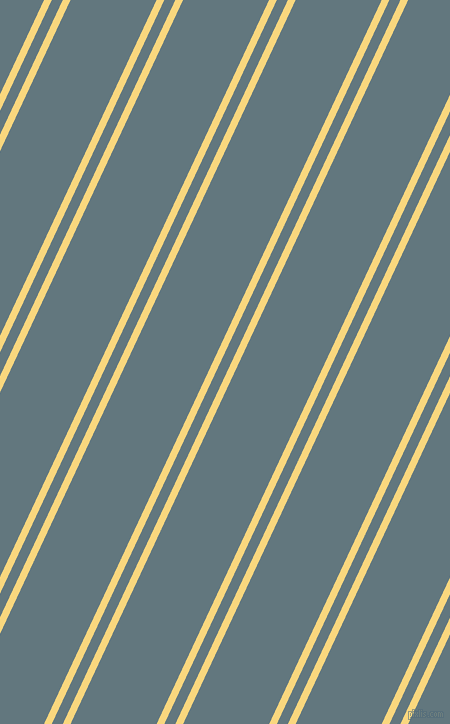 65 degree angle dual striped line, 7 pixel line width, 10 and 78 pixel line spacing, Golden Glow and Blue Bayoux dual two line striped seamless tileable