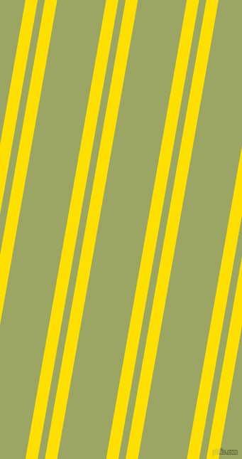 80 degree angle dual striped line, 17 pixel line width, 10 and 68 pixel line spacing, Golden Yellow and Green Smoke dual two line striped seamless tileable