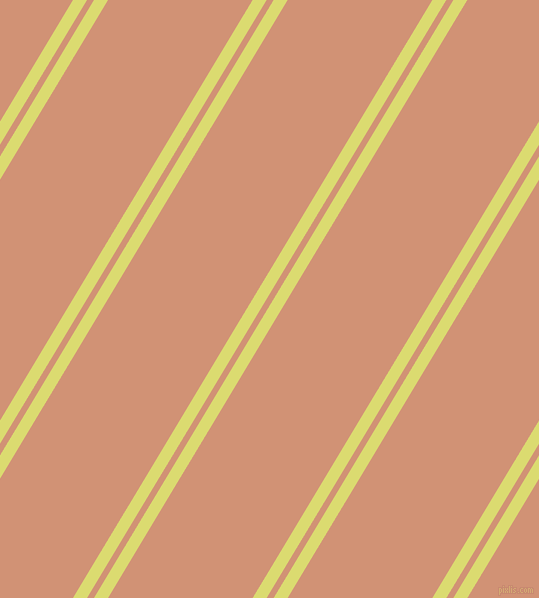 59 degree angle dual stripe line, 12 pixel line width, 6 and 124 pixel line spacingGoldenrod and Feldspar dual two line striped seamless tileable
