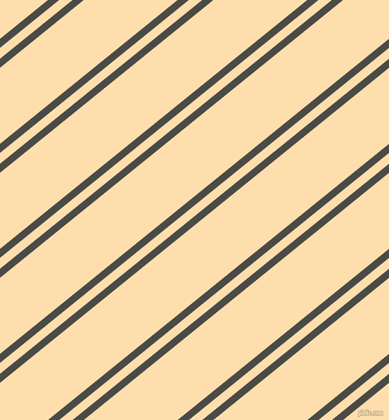 39 degree angle dual stripe lines, 10 pixel lines width, 12 and 84 pixel line spacing, Gravel and Navajo White dual two line striped seamless tileable