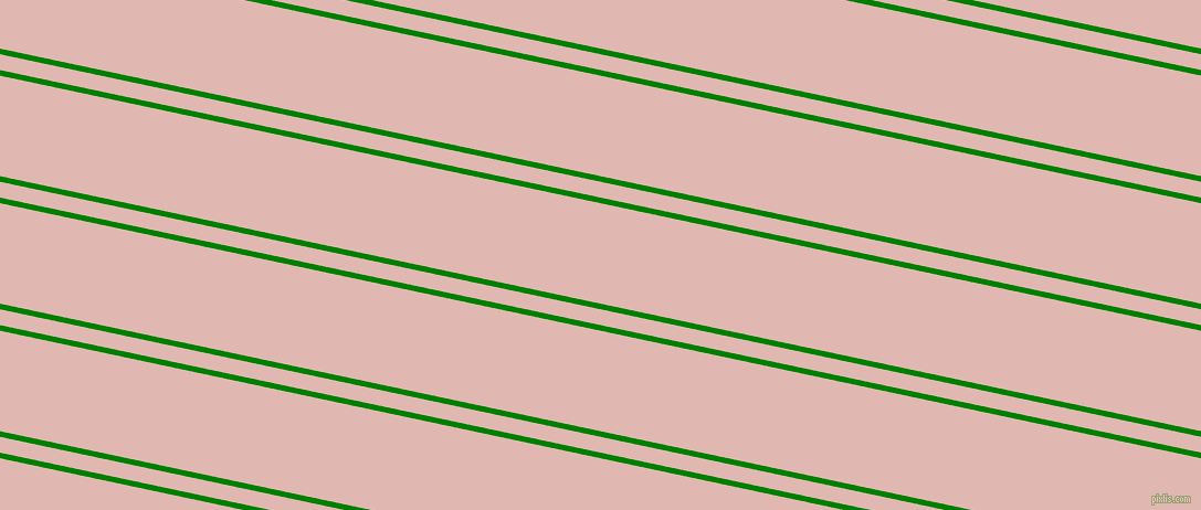 168 degree angles dual stripes lines, 5 pixel lines width, 14 and 89 pixels line spacing, Green and Cavern Pink dual two line striped seamless tileable