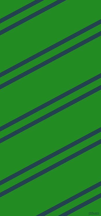 28 degree angles dual striped line, 14 pixel line width, 22 and 114 pixels line spacing, Green Vogue and Forest Green dual two line striped seamless tileable