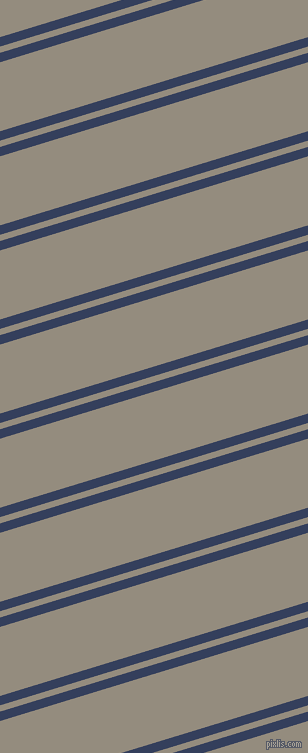17 degree angle dual striped lines, 9 pixel lines width, 6 and 66 pixel line spacing, Gulf Blue and Heathered Grey dual two line striped seamless tileable