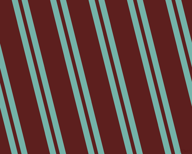 104 degree angles dual striped line, 20 pixel line width, 12 and 73 pixels line spacing, Gulf Stream and Red Oxide dual two line striped seamless tileable