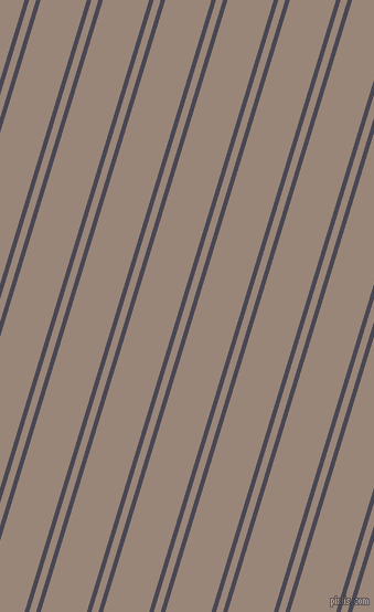 73 degree angle dual stripes lines, 4 pixel lines width, 6 and 40 pixel line spacing, Gun Powder and Almond Frost dual two line striped seamless tileable