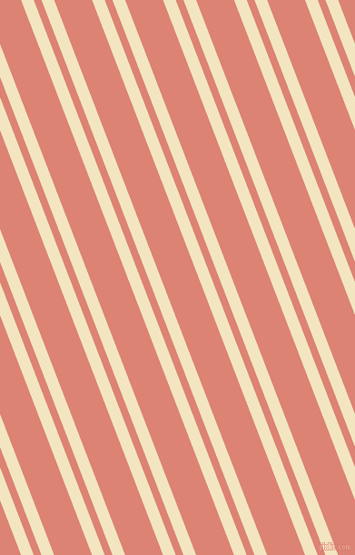 111 degree angles dual stripes lines, 13 pixel lines width, 8 and 39 pixels line spacing, Half Colonial White and New York Pink dual two line striped seamless tileable