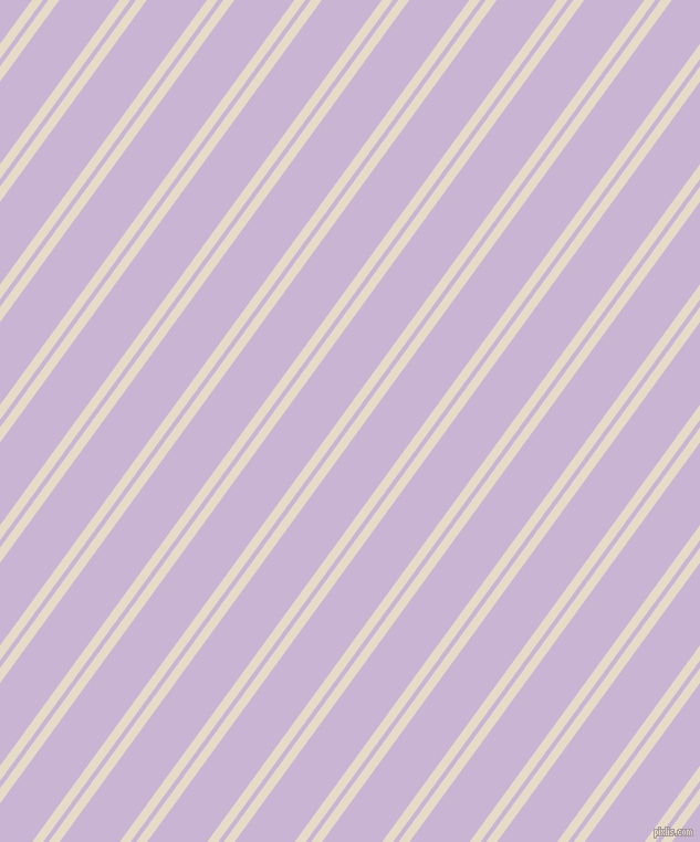 54 degree angles dual stripe lines, 8 pixel lines width, 4 and 44 pixels line spacing, Half Spanish White and Prelude dual two line striped seamless tileable