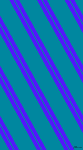 119 degree angles dual stripe lines, 16 pixel lines width, 4 and 66 pixels line spacing, Han Purple and Eastern Blue dual two line striped seamless tileable