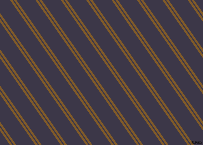 125 degree angles dual striped lines, 7 pixel lines width, 4 and 54 pixels line spacing, Hot Curry and Martinique dual two line striped seamless tileable