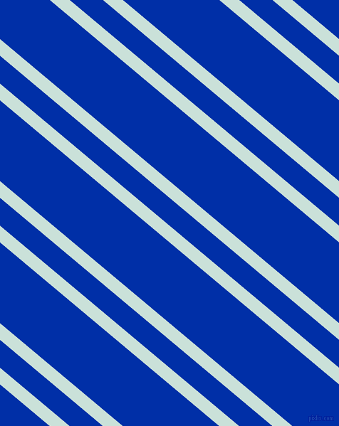 140 degree angle dual stripes lines, 18 pixel lines width, 30 and 87 pixel line spacing, Iceberg and International Klein Blue dual two line striped seamless tileable