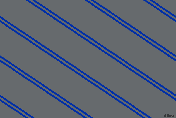 146 degree angles dual stripe line, 6 pixel line width, 6 and 94 pixels line spacing, International Klein Blue and Mid Grey dual two line striped seamless tileable