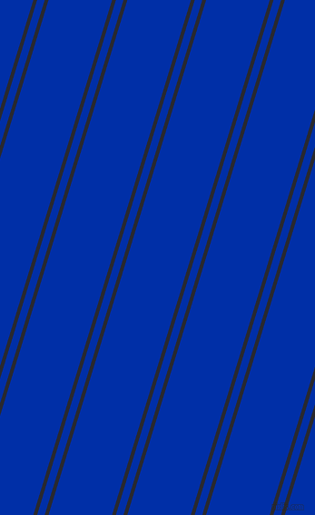 73 degree angles dual stripes lines, 4 pixel lines width, 8 and 67 pixels line spacing, Jaguar and International Klein Blue dual two line striped seamless tileable