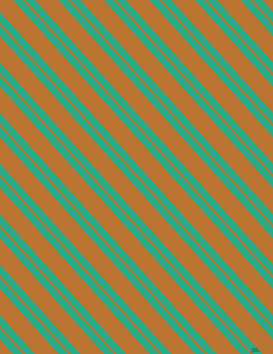 132 degree angles dual stripe line, 14 pixel line width, 4 and 35 pixels line spacing, Jungle Green and Meteor dual two line striped seamless tileable