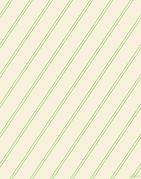 56 degree angle dual stripe lines, 1 pixel lines width, 6 and 48 pixel line spacing, Kelly Green and Apricot White dual two line striped seamless tileable