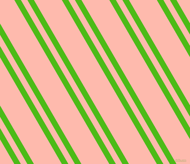 120 degree angle dual stripe lines, 18 pixel lines width, 18 and 77 pixel line spacing, Kelly Green and Melon dual two line striped seamless tileable