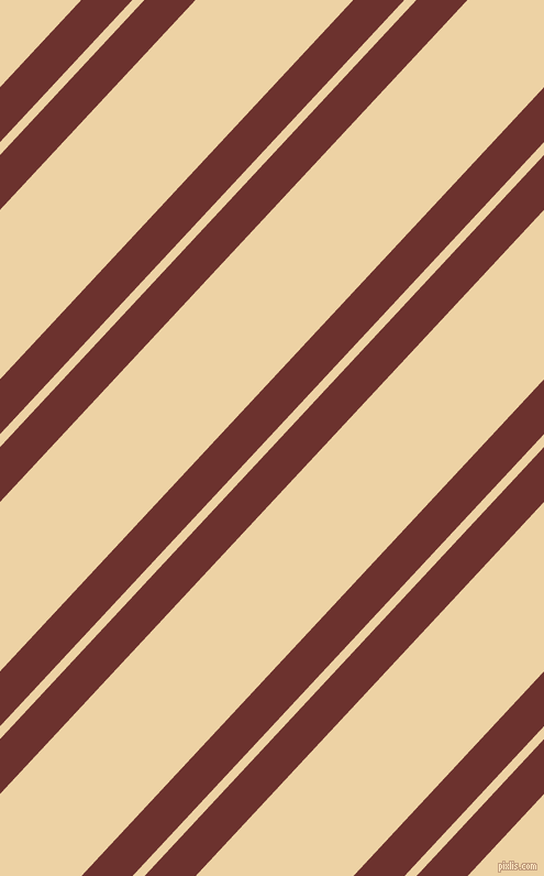 47 degree angle dual striped line, 34 pixel line width, 8 and 105 pixel line spacing, Kenyan Copper and Dairy Cream dual two line striped seamless tileable