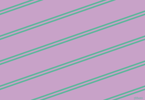 19 degree angle dual striped line, 6 pixel line width, 6 and 78 pixel line spacing, Keppel and Lilac dual two line striped seamless tileable