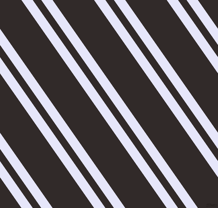 125 degree angle dual striped line, 32 pixel line width, 24 and 117 pixel line spacing, Lavender and Livid Brown dual two line striped seamless tileable