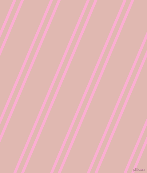 67 degree angles dual stripes lines, 9 pixel lines width, 14 and 78 pixels line spacing, Lavender Pink and Cavern Pink dual two line striped seamless tileable