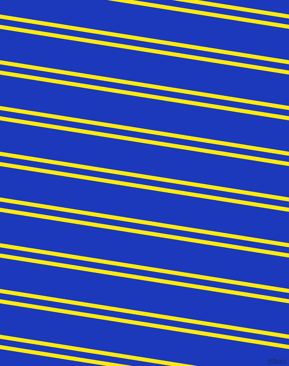 171 degree angle dual stripe lines, 8 pixel lines width, 12 and 61 pixel line spacing, Lemon and Persian Blue dual two line striped seamless tileable