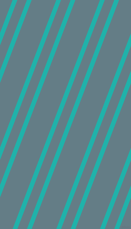 69 degree angles dual striped line, 19 pixel line width, 38 and 98 pixels line spacing, Light Sea Green and Hoki dual two line striped seamless tileable