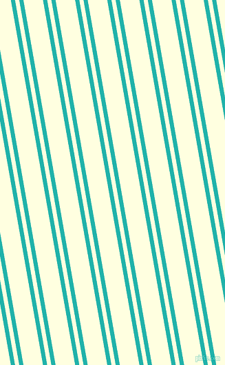 100 degree angles dual stripe line, 6 pixel line width, 6 and 28 pixels line spacing, Light Sea Green and Light Yellow dual two line striped seamless tileable