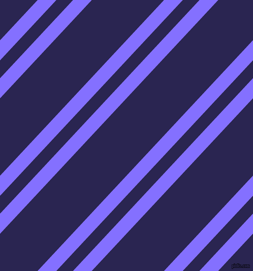 47 degree angles dual striped lines, 27 pixel lines width, 24 and 104 pixels line spacing, Light Slate Blue and Paua dual two line striped seamless tileable