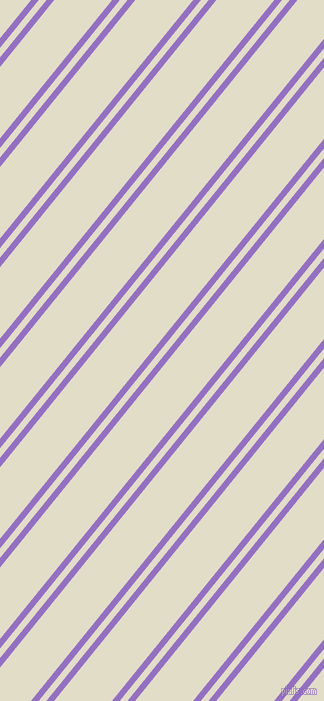 51 degree angle dual striped line, 6 pixel line width, 6 and 45 pixel line spacing, Lilac Bush and Travertine dual two line striped seamless tileable