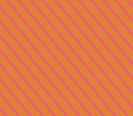 130 degree angle dual stripes lines, 1 pixel lines width, 4 and 25 pixel line spacing, Magenta and Tree Poppy dual two line striped seamless tileable