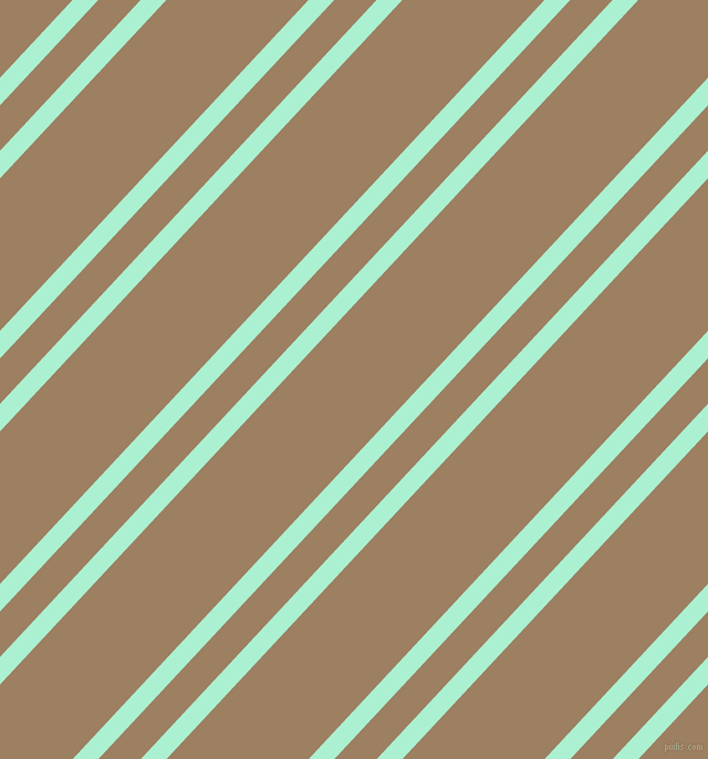47 degree angles dual stripe lines, 17 pixel lines width, 28 and 94 pixels line spacing, Magic Mint and Sorrell Brown dual two line striped seamless tileable