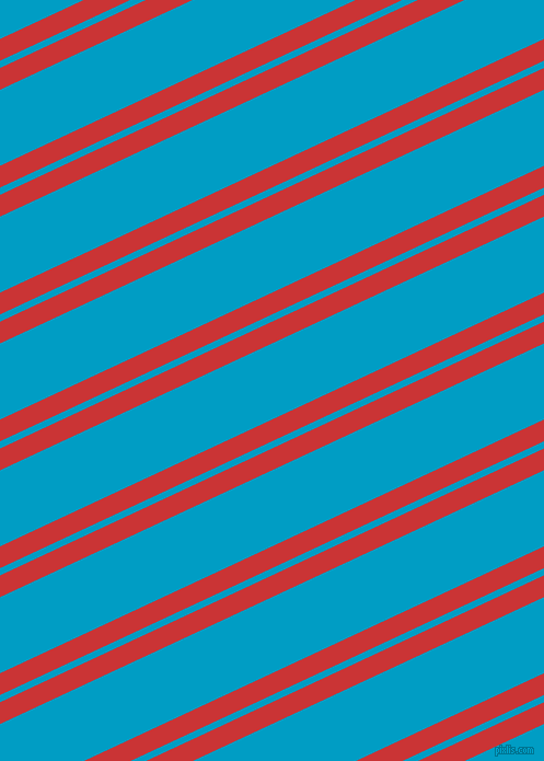 25 degree angles dual stripes lines, 18 pixel lines width, 6 and 63 pixels line spacing, Mahogany and Pacific Blue dual two line striped seamless tileable