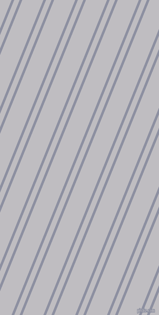 68 degree angle dual stripes lines, 5 pixel lines width, 10 and 39 pixel line spacing, Manatee and French Grey dual two line striped seamless tileable