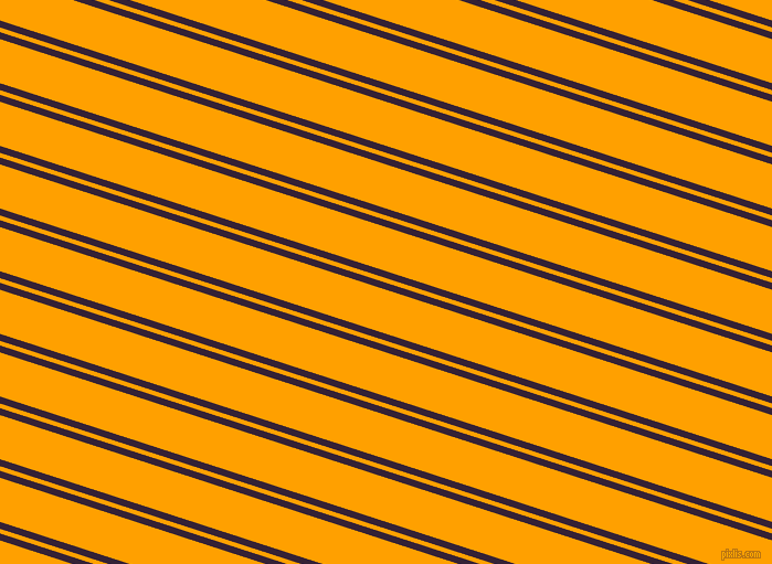 162 degree angles dual striped line, 6 pixel line width, 4 and 38 pixels line spacing, Mardi Gras and Orange Peel dual two line striped seamless tileable