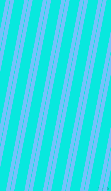 79 degree angle dual striped lines, 13 pixel lines width, 2 and 34 pixel line spacingMaya Blue and Bright Turquoise dual two line striped seamless tileable