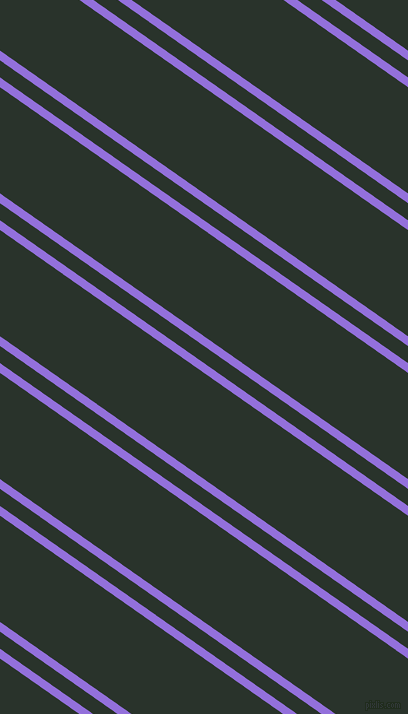 145 degree angle dual stripes line, 8 pixel line width, 14 and 87 pixel line spacing, Medium Purple and Gordons Green dual two line striped seamless tileable