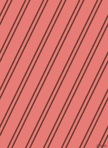 64 degree angles dual striped lines, 5 pixel lines width, 8 and 38 pixels line spacing, Metallic Copper and Geraldine dual two line striped seamless tileable