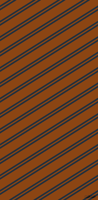 32 degree angle dual stripe lines, 5 pixel lines width, 4 and 28 pixel line spacing, Midnight and Saddle Brown dual two line striped seamless tileable