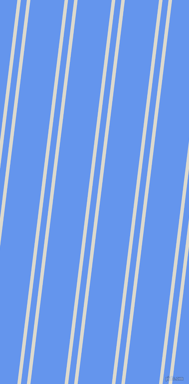 83 degree angles dual striped line, 7 pixel line width, 12 and 68 pixels line spacing, Milk White and Cornflower Blue dual two line striped seamless tileable