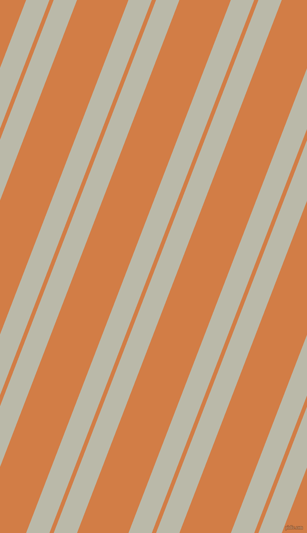 69 degree angle dual stripe lines, 44 pixel lines width, 8 and 97 pixel line spacing, Mist Grey and Raw Sienna dual two line striped seamless tileable