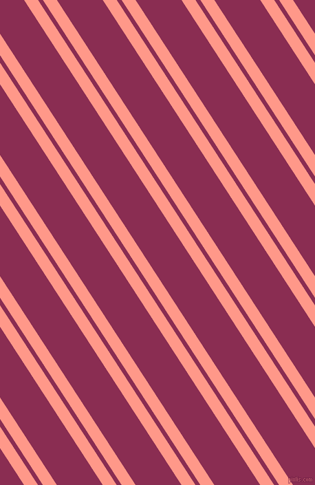 123 degree angle dual stripes line, 17 pixel line width, 6 and 56 pixel line spacing, Mona Lisa and Rose Bud Cherry dual two line striped seamless tileable