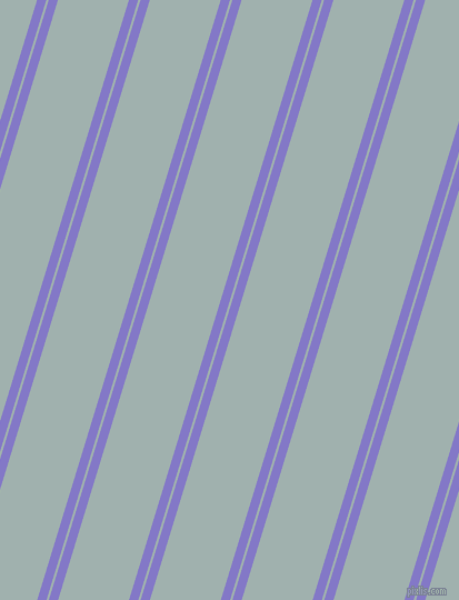 73 degree angle dual striped lines, 8 pixel lines width, 2 and 61 pixel line spacing, Moody Blue and Conch dual two line striped seamless tileable