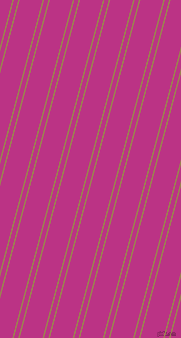 75 degree angles dual stripe lines, 3 pixel lines width, 8 and 43 pixels line spacing, Muesli and Red Violet dual two line striped seamless tileable