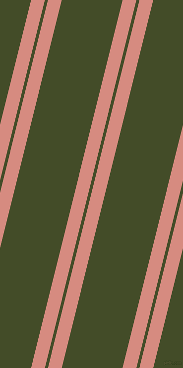 76 degree angles dual striped line, 27 pixel line width, 6 and 119 pixels line spacing, My Pink and Bronzetone dual two line striped seamless tileable