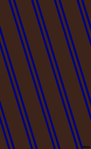107 degree angle dual striped lines, 8 pixel lines width, 10 and 62 pixel line spacing, Navy and Brown Pod dual two line striped seamless tileable