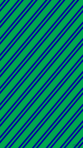 50 degree angle dual stripes line, 6 pixel line width, 6 and 23 pixel line spacing, New Midnight Blue and Pigment Green dual two line striped seamless tileable