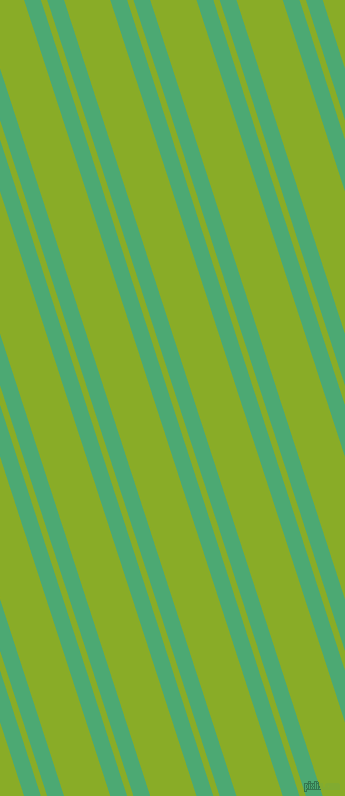 108 degree angles dual striped line, 16 pixel line width, 6 and 44 pixels line spacing, Ocean Green and Limerick dual two line striped seamless tileable