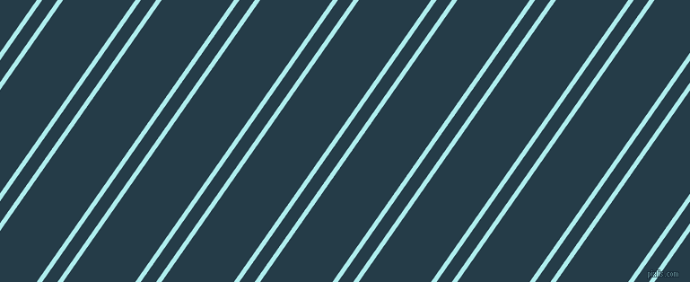 55 degree angles dual striped lines, 5 pixel lines width, 14 and 66 pixels line spacing, Pale Turquoise and Tarawera dual two line striped seamless tileable