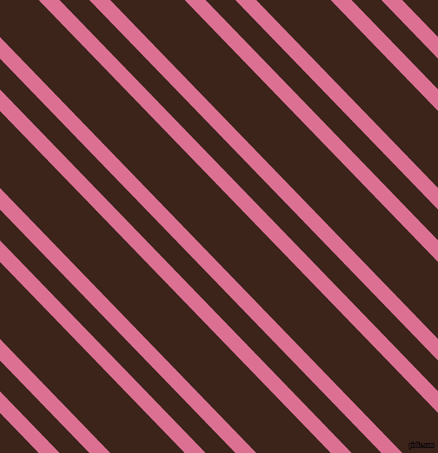 134 degree angles dual stripe lines, 21 pixel lines width, 30 and 75 pixels line spacing, Pale Violet Red and Brown Pod dual two line striped seamless tileable